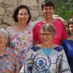 Christine DANEL, supérieure générale, avec ses conseillères