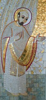 Saint Ignace - Mosaïque de  Marco Rupnik, SJ - Chapelle de la Résidence S. Pietro Canisio, Rome