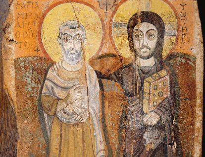 Icône du Christ et de l'abbé Mena (Musée du Louvre)