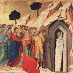 La résurrection de Lazare, Duccio di Buoninsegna