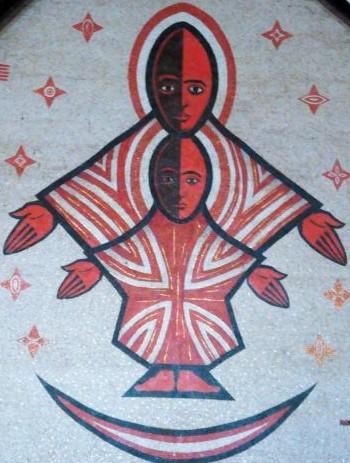 E. Mveng - fresque de la cathédrale de Yaoundé