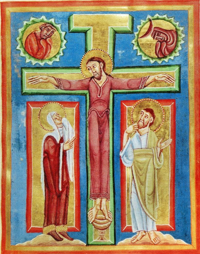 Miniature de l'abbaye d'Echternach